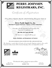 Printable Sierra Pacific Supply Co., Inc. ISO Certificate